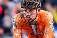 Picture by Alex Whitehead/SWpix.com - 04/02/2018 - Cycling - 2018 UCI Cyclo-Cross World Championships - Valkenburg, The Netherlands - Netherlands' Mathieu van der Poel following the Elite Men's race.