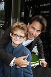 Ricky Paull Goldin poses with Kameron at All My Children's Good Night Pine Valley was held on September 17, 2011 at Prohibition, New York City, New York.  (Photo by Sue Coflin/Max Photos)
