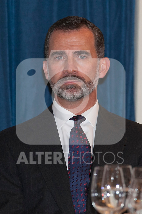 King Felipe VI of Spain attends the XXXI Francisco Cerecedo journalism awards ar Ritz hotel in Madrid, Spain. November 05, 2014. (ALTERPHOTOS/Victor Blanco)