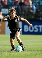 Tina DiMartino brings down the ball. FC Gold Pride tied the Chicago Red Stars 1-1 at Buck Shaw Stadium in Santa Clara, California on June 7th, 2009.