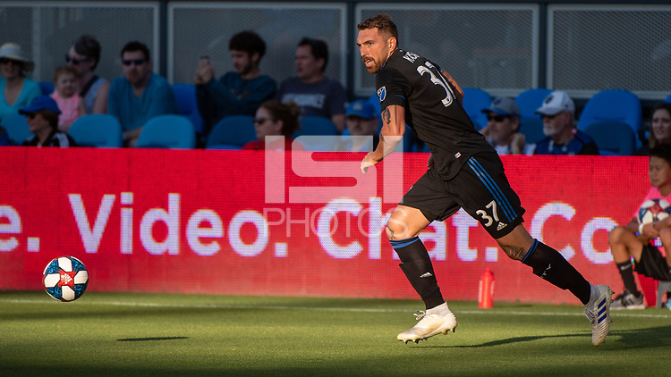 San Jose, CA - Saturday August 03, 2019: Guram Kashia #37 in a Major League Soccer (MLS) match between the San Jose Earthquakes and the Columbus Crew at Avaya Stadium. <br /> .