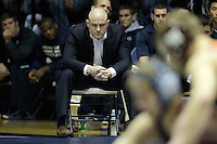 STATE COLLEGE, PA -DECEMBER 19: Head coach Cael Sanderson of the Penn State Nittany Lions during a match against of the Virginia Tech Hokies on December 19, 2014 at Recreation Hall on the campus of Penn State University in State College, Pennsylvania. Penn State won 20-15. (Photo by Hunter Martin/Getty Images) *** Local Caption *** Cael Sanderson