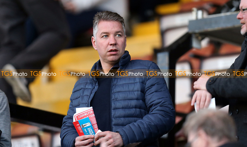 In attendance Doncaster manager Darren Feguson during Lincoln City vs Dagenham & Redbridge, Vanarama National League Football at the Gelder Group Sincil Bank Stadium on 3rd April 2017