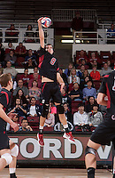 STANFORD, CA - March 2, 2012:  Stanford men's volleyball vs. UC San Diego at Maples Pavilion. Stanford won in four sets, 25-21, 25-15, 22-25,  25-19.