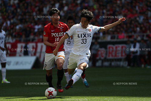 Mu Kanazaki (Antlers),<br /> MAY 4, 2017 - Football / Soccer : 2017 J1 League match between Urawa Red Diamonds 0-1 Kashima Antlers at Saitama Stadium 2002 in Saitama, Japan. (Photo by Jun Tsukida/AFLO SPORT)