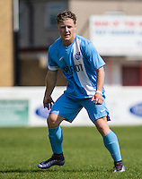 Josh Crosswell (Model) of Celeb FC during the 'Greatest Show on Turf' Celebrity Event - Once in a Blue Moon Events at the London Borough of Barking and Dagenham Stadium, London, England on 8 May 2016. Photo by Andy Rowland.
