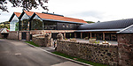 Lindores Abbey Distillery in Fife, site of the first recorded whisky distillation in Scotland, opens its doors after 500 years. Drew McKenzie Smith and his wife Helen - custodians of Lindores Abbey - unveiled the &pound;7 million visitor centre and distillery today (Thursday, 5th October, 2017) in a ceremony opened by one of Fife&rsquo;s favourite sons and whisky fan, author Ian Rankin, who welcomed future generations of whisky pilgrims through the doors of the innovative new distillery. 05 Oct 2017 Lindores, Newburgh, Fife. Copyright photograph by Tina Norris. Not to be archived or reproduced without prior permission and payment. Contact Tina on 07775 593 830 info@tinanorris.co.uk www.tinanorris.co.uk http://tinanorris.photoshelter.com<br /> Further info from  FIONA LEITH<br /> River Public Relations <br /> Email: fionaleith@riverpublicrelations.co.uk<br /> Mobile: 07484 312 838