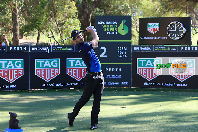 Josh Cabban (AUS) on the 2nd tee during Round 2 of the ISPS Handa World Super 6 Perth on Friday 17th February 2017.<br /> Picture:  Thos Caffrey / Golffile<br /> <br /> All photo usage must carry mandatory copyright credit     (&copy; Golffile | Thos Caffrey)