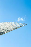Santiago Calatrava's World Trade Center Transportation Hub in lower Manhattan. New York, New York