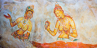 Panoramic photo of Apsara Frescoes on Mirror Wall at Sigiriya Rock Fortress, UNESCO World Heritage Site, Sri Lanka. This is a panoramic photo of Apsara Frescoes on Mirror Wall at Sigiriya Rock Fortress, aka Lion Rock, a UNESCO World Heritage Site in Sri Lanka. Sigiriya Rock is easily the most popular tourist attraction in Sri Lanka.