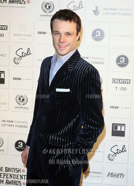 Rupert Evans arriving at the Independent Film Awards 2009, at The Brewery, London. 06/12/2009  Picture By: Alexandra Glen / Featureflash