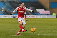 Ashley Hunter of Fleetwood Town during the Sky Bet League 1 match between Gillingham and Fleetwood Town at the MEMS Priestfield Stadium, Gillingham, England on 27 January 2018. Photo by David Horn.