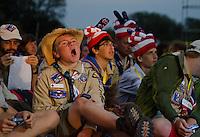 American boy in the audience.  Photo: Malin Duveblad/Scouterna
