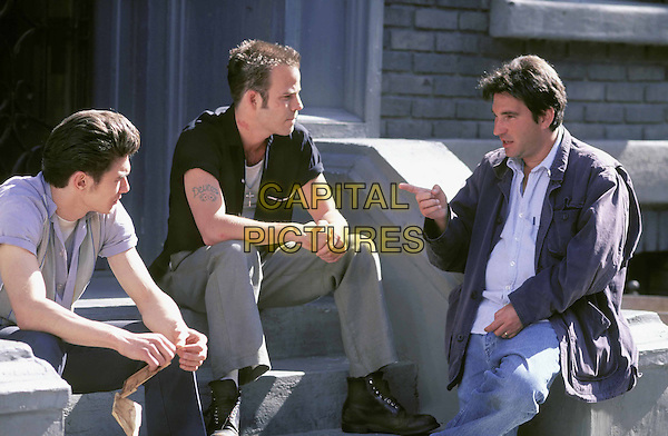 JAMES FRANCO, STEPHEN DORFF & SCOTT KALVERT (DIRECTOR).on the set of Deuces Wild.Ref: FBAW.*Film Still - Editorial Use Only*.www.capitalpictures.com.sales@capitalpictures.com.Supplied by Capital Pictures