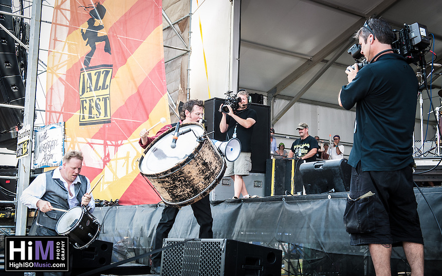 The North Mississippi Allstars perform on Day 3 of the 2014 New Orleans Jazz and Heritage Festival.