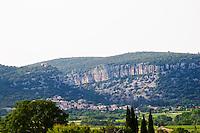 Chateau de Lascaux, Vacquieres village. Pic St Loup. Languedoc. Les Contreforts des Cevennes. France. Europe.
