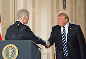 United States President Donald J. Trump announces the name of his nominee to be Associate Justice of the US Supreme Court to replace Justice Antonin Scalia in the East Room of the White House in Washington, DC on Tuesday, January 31, 2017.<br /> Credit: Ron Sachs / CNP
