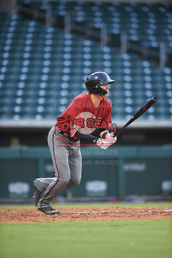AZL D-backs Angelo Altavilla (10) at bat during an Arizona League game against the AZL Cubs 1 on July 25, 2019 at Sloan Park in Mesa, Arizona. The AZL D-backs defeated the AZL Cubs 1 3-2. (Zachary Lucy/Four Seam Images)