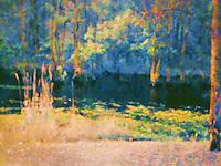 Gibson Pond fine art, impressionist style