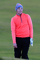 Alex Maguire (Laytown &amp; Bettystown) on the 18th fairway during Round 3 of the Ulster Boys Championship at Portrush Golf Club, Portrush, Co. Antrim on the Valley course on Thursday 1st Nov 2018.<br /> Picture:  Thos Caffrey / www.golffile.ie<br /> <br /> All photo usage must carry mandatory copyright credit (&copy; Golffile | Thos Caffrey)
