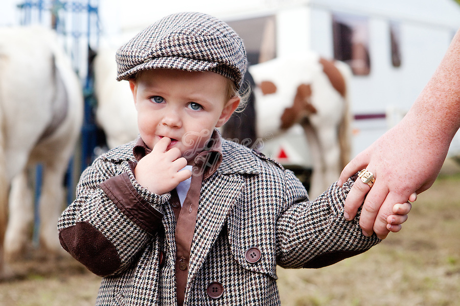 9/10/2010.  2 year old Traveller boy rDenis Mc Ginley from Longford is pictured at the Ballinasloe Horse Fair, Ballinasloe, County Galway, Ireland. Picture James Horan