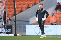 Blackpool's Jak Alnwick during the pre-match warm-up <br /> <br /> Photographer Kevin Barnes/CameraSport<br /> <br /> Emirates FA Cup Second Round - Blackpool v Maidstone United - Sunday 1st December 2019 - Bloomfield Road - Blackpool<br />  <br /> World Copyright © 2019 CameraSport. All rights reserved. 43 Linden Ave. Countesthorpe. Leicester. England. LE8 5PG - Tel: +44 (0) 116 277 4147 - admin@camerasport.com - www.camerasport.com