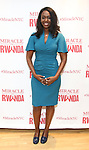 """Immaculee ILibagiza during a reception for  """"Miracle in Rwanda"""" honoring International Day of Reflection on the 1994 Genocide against the Tutsi in Rwanda at the Lion Theatre on Theater Row on April 7, 2019 in New York City."""