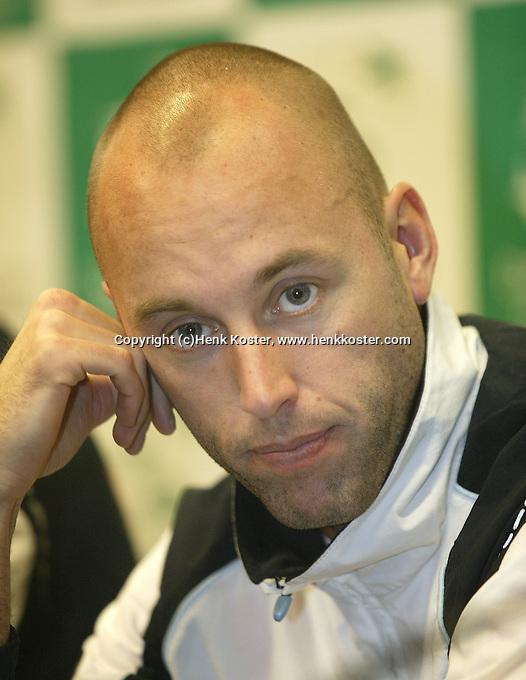 8-2-06, Netherlands, tennis, Amsterdam, Daviscup Netherlands Russia,. pressconference, Peter Wessels