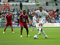 Pictured: Lee Trundle (R) of Team Woodyatt passing the ball. Sunday, 01 June 2014<br />
