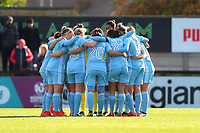 Sunderland players huddle during Arsenal Women vs Sunderland AFC Ladies, FA Women's Super League FA WSL1 Football at Meadow Park on 12th November 2017