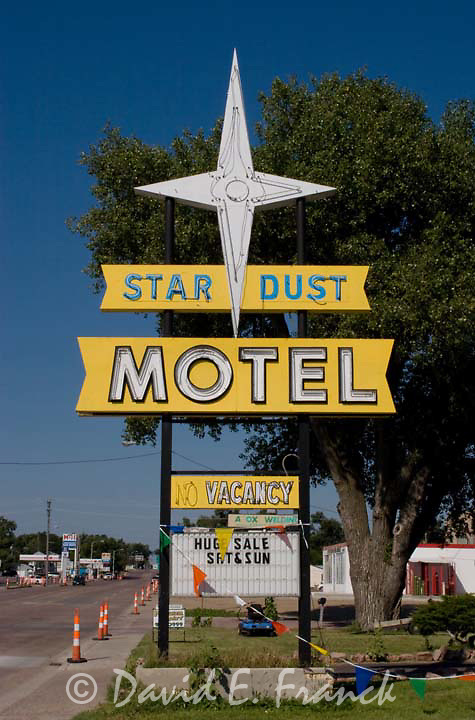 Star Dust Motel sign in Mitchell, South Dakota.