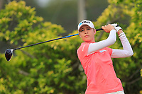 Nelly Korda (USA) in action on the 3rd during Round 2 of the HSBC Womens Champions 2018 at Sentosa Golf Club on the Friday 2nd March 2018.<br /> Picture:  Thos Caffrey / www.golffile.ie<br /> <br /> All photo usage must carry mandatory copyright credit (&copy; Golffile | Thos Caffrey)