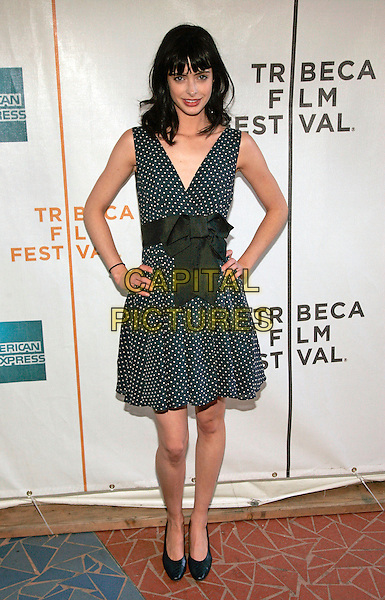 "KRYSTEN RITTER.Premiere Of ""I'm Reed Fish"", at the 5th Annual Tribecca Film Festival, New York, NY, USA, 29 April 2006..full length blue green dress bow polka dot.Ref: ADM/JL.www.capitalpictures.com.sales@capitalpictures.com.©Jackson Lee/AdMedia/Capital Pictures."