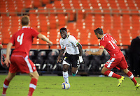 Washington, DC - October 13, 2015: Canada tied Ghana, 1-1, during an international friendly at RFK Stadium.