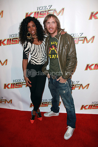 Kelly Rowland and David Guetta at KIIS FM's Wango Tango 2010 at Staples Center  in Los Angeles, California. May 15, 2010  Credit: Dennis Van Tine/MediaPunch