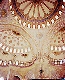 TURKEY, Istanbul, interior detail of blue mosque of Sultan Ahmed