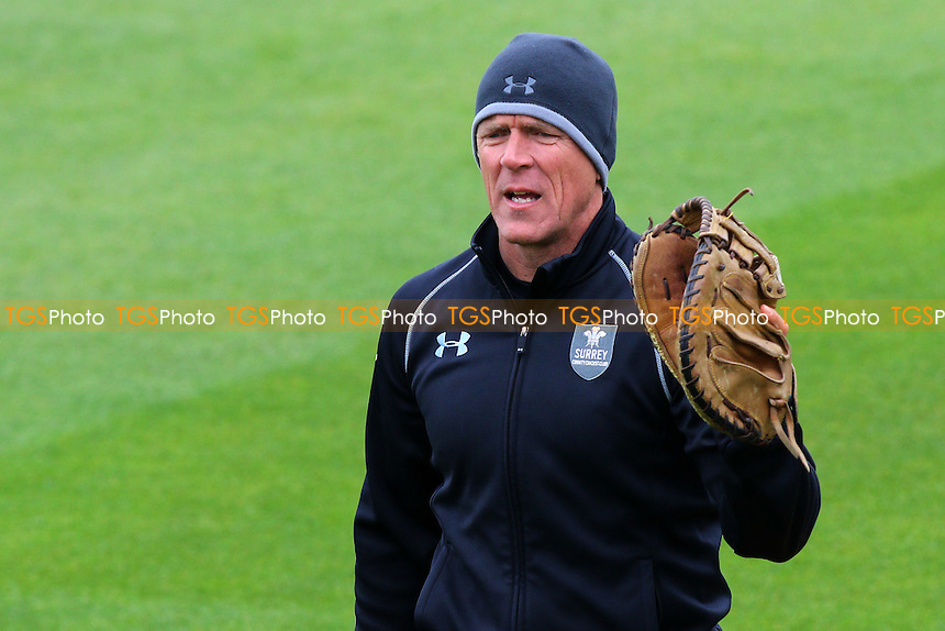 Alec Stewart of Surrey looks on ahead of Day One - Surrey CCC vs Essex CCC - LV County Championship Division Two Cricket at the Kia Oval, Kennington, London - 26/04/15 - MANDATORY CREDIT: Gavin Ellis/TGSPHOTO - Self billing applies where appropriate - contact@tgsphoto.co.uk - NO UNPAID USE