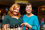 Aisling Brady and Fiona Griffin attending the 5 Christmas plays by John B Keane on stage at the Ballymac Bar on Saturday night.