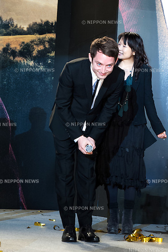 December 1st, 2012 : Tokyo, Japan - Elijah Wood appears at the Japan Premiere for ''The Hobbit: An Unexpected Journey'' by Peter Jackson in the Roppongi Hills, Tokyo, Japan. This film will be released on December 14th in Japan. (Photo by Yumeto Yamazaki/Nippon News)