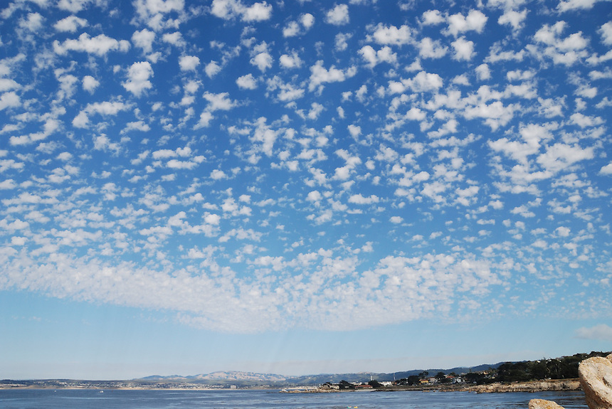 Pacific Grove and Monterey Bay, clouds