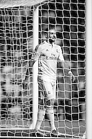 Karim Benzema of Real Madrid during La Liga match between Real Madrid and Athletic de Bilbao at Santiago Bernabeu stadium in Madrid, Spain. October 05, 2014. (ALTERPHOTOS/Caro Marin)(EDITORS NOTE: This image has been converted to black and white)