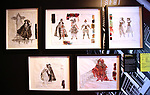 'The Phantom Of The Opera' Costume Sketches at Curtain Up: Celebrating the Last 40 Years of Theatre in New York and London Exhibition on June 14, 2017 at the New York Public Library for the Performing Arts at Lincoln Center.
