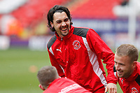 Markus Schwabl of Fleetwood Town is all smiles during the Sky Bet League 1 match between Charlton Athletic and Fleetwood Town at The Valley, London, England on 17 March 2018. Photo by Carlton Myrie.