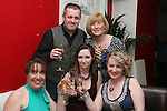 Emer Garry, Yvonne McAleer, Siobhan O'Neill, David White and Margaret O'Neill as Mumstown Operation Transformation Team Toast their Success in Romanza, Dyer Street...Photo NEWSFILE/Jenny Matthews.(Photo credit should read Jenny Matthews/NEWSFILE)....This Picture has been sent you under the condtions enclosed by:.Newsfile Ltd..The Studio,.Millmount Abbey,.Drogheda,.Co Meath..Ireland..Tel: +353(0)41-9871240.Fax: +353(0)41-9871260.GSM: +353(0)86-2500958.email: pictures@newsfile.ie.www.newsfile.ie.FTP: 193.120.102.198.