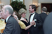 In this photo provided by the Ronald Reagan Presidential Library, Princess Diana dances with Tom Selleck in the Cross Hall of the White House in Washington, D.C. at a Dinner for Prince Charles and Princess Diana of the United Kingdom on November 9, 1985.<br /> Mandatory Credit: Pete Souza - Courtesy Ronald Reagan Library via CNP