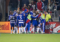 21 November 2010: FC Dallas players celebrate a goal by FC Dallas midfielder/forward David Ferreira #10 during the 2010 MLS Cup Final between the Colorado Rapids and FC Dallas at BMO Field in Toronto, Ontario Canada...