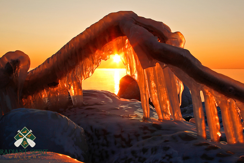 &quot;Fire 'n' Ice&quot;<br /> <br /> This iced branch came to life along the North Shore of Lake Superior. As the sun rose above the lake's steam devils, the icy formation looked like flames; a stark contrast to the frigid subzero temps that morning.