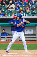 Tennessee Smokies third baseman Jason Vosler (22) during a Southern League game against the Biloxi Shuckers on May 25, 2017 at Smokies Stadium in Kodak, Tennessee.  Tennessee defeated Biloxi 10-4. (Brad Krause/Krause Sports Photography)