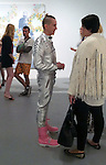 .April 19th 2012....FAMOUS CLOHTING DESIGNER JEREMY SCOTT WEARING HOT PINK BOOTS & SILVER JUMP SUIT ASTROUNAUT SUIT PANTS JACKET AT THE..Transmission LA AT THE MOCA GEFFEN IN DOWNTOWN LOS ANGELES ART BY BEN JONES &  HOSTED BY MIKE D OF THE BEASTIE BOYS ..AbilityFilms@yahoo.com.805-427-3519.www.AbilityFilms.com...