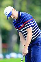 Jordan Spieth US Team on the 11th green during Thursday's Practice Day of the 41st RyderCup held at Hazeltine National Golf Club, Chaska, Minnesota, USA. 29th September 2016.<br /> Picture: Eoin Clarke | Golffile<br /> <br /> <br /> All photos usage must carry mandatory copyright credit (&copy; Golffile | Eoin Clarke)